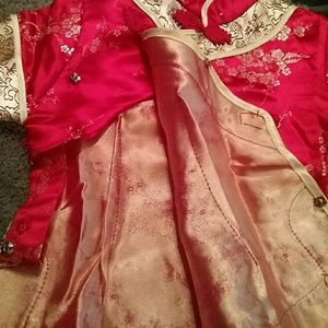 double peach Matching Sets - GREAT CONDITION Chinese Child Two Piece